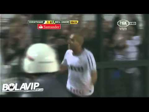 1mer Gol de Emerson - Corinthians vs Boca - Copa Libertadores - HD FULL
