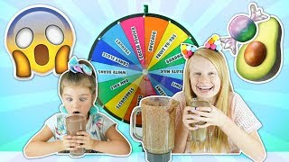 MYSTERY WHEEL OF SMOOTHIE CHALLENGE!! 🍭😱 *omg*