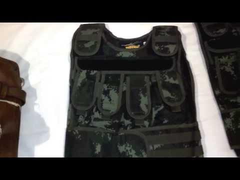 Gun Safari Video 2: Homemade Bangkok Body Armor bought from Street Protestors