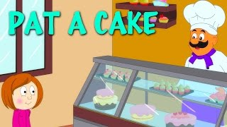 Pat A Cake | Nursery Rhymes With Lyrics | English Rhymes For Kids
