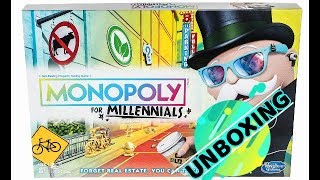 Monopoly For Millennials Board Game: Unboxing