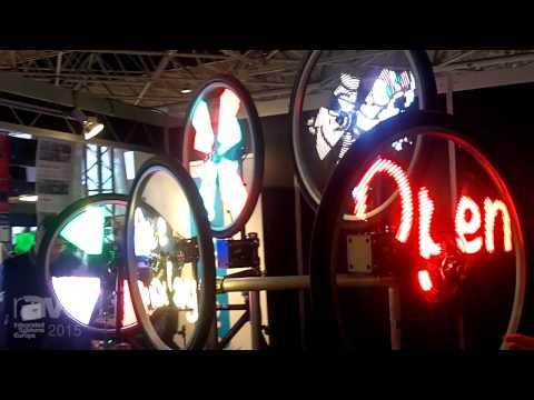 ISE 2015: Monkeylectric Demonstrates POV360 Round, Semi-Transparent LED Display Sign