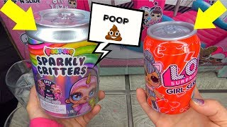 Poopsie Slime Surprise UNICORN Sparkly Critters & FAKE LOL surprise dolls opening REAL VS Fake LOL