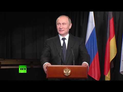 Путин пообщался на немецком языке с учениками из Германии