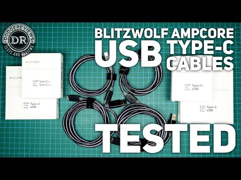 BlitzWolf Ampcore Type-C (BW-TC4/5/6/7) cables unboxed and tested