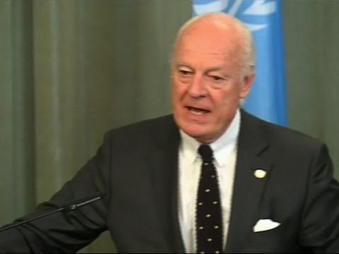 UN Envoy in Moscow to Discuss Syria Ceasefire