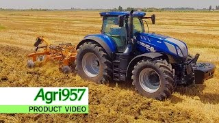 NEW HOLLAND T7.315 HEAVY DUTY - BLUE POWER | HARD TRACTION WORKS: Maschio and Ma/ag | ProductVideo