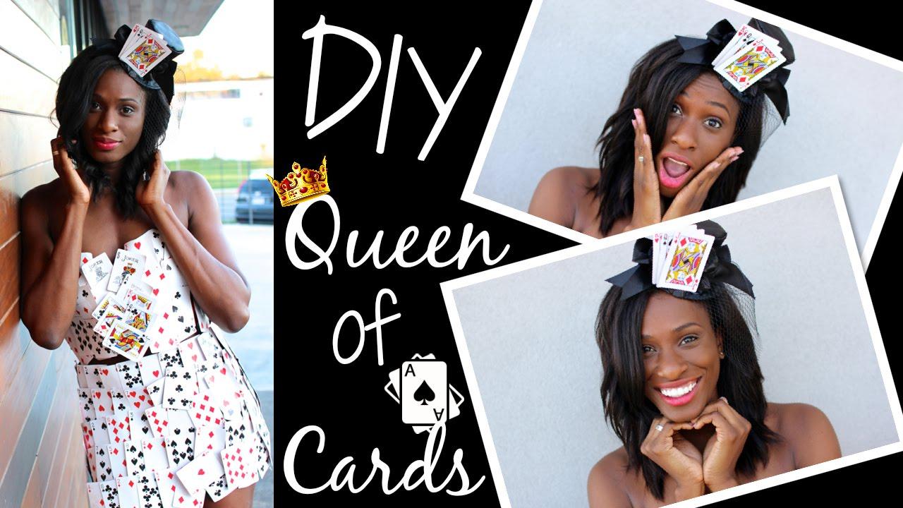 Diy Card Halloween Costumes Diy Queen of Cards Halloween
