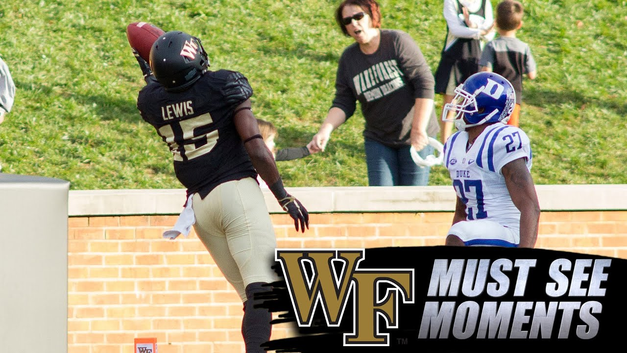 Wake Forest's Cortez Lewis With the Incredible 1-Handed TD Catch