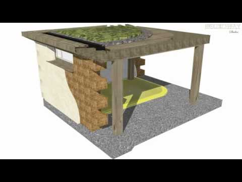 Fasi di costruzione di una casa in paglia youtube for Piani di casa di balle di paglia di struttura in legno
