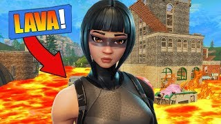 FORTNITE THE FLOOR IS LAVA *IMPOSSIBLE*