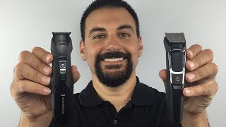 Beard Trimming - Remington PG6025 vs Philips Norelco Multigroom 3000