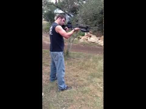 Horton 125 Scout Crossbow and homemade target