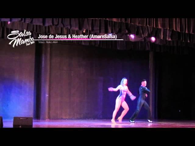 Jose de Jesus & Heather (AmoreSalsa) | Salsa Mambo Fest 2014 | Riviera Nayarit