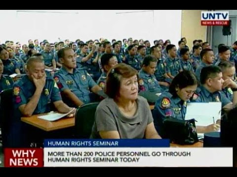 More than 200 police personnel go through human rights seminar today