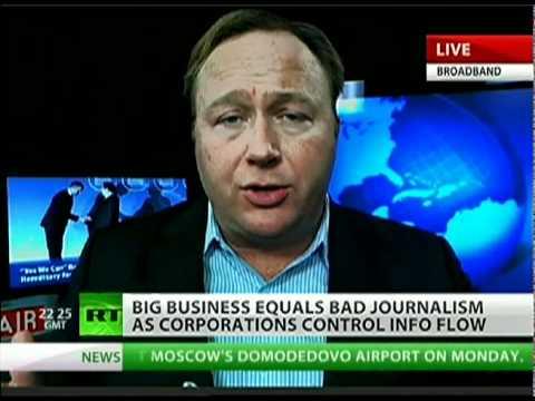 Alex Jones: Corporations, US government run news media