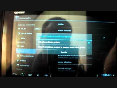 Configuração do acelerômetro no tablet Genesis gt 7200