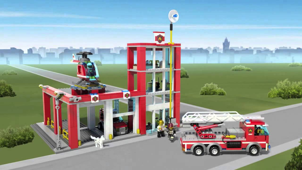 Lego City 60004 - Fire Station - Lego 3D-Review - YouTube