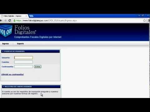 Facturación electronica, con el sistema en linea de folios digitales