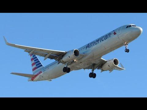 American Airlines Airbus A321-231 [N118NN] landing in LAX