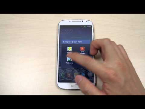 How to change the home screen and lock screen wallpaper on Samsung Galaxy S4 GT-I9500 / GT-I9505