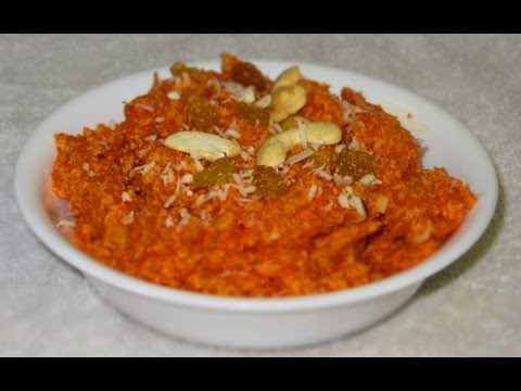Gajar ka halwa (Carrot pudding) by crazy4veggie.com