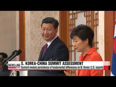 S. Korea-China summit reveals fundamental differences on North Korea: U.S. experts