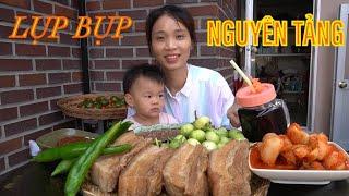  TẬP 548  THỊT NGUYÊN TẢNG LUỘC ĐẬU TƯƠNG KẸP CÀ PHÁO CHẤM MẮM RUỐC! BOILED PORK MUKBANG EATING SHOW