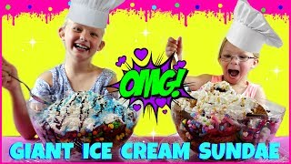 World's LARGEST Ice Cream Sundae Challenge - Magic Box Toys Collector