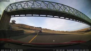 BMW Z4 Loses It In Front Of Me On Turn 2 @ Sears Point