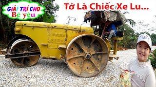 BÉ HUYỀN XEM XE LU LÀM ĐƯỜNG | Children watch road car roller 💚 Giải trí cho Bé yêu