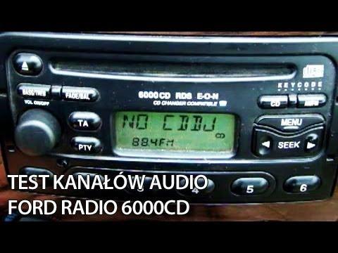 Ford Radio 6000CD - Indywidualny test kanałów (Focus. Escort. Mondeo. Puma. Fiesta) głośniki
