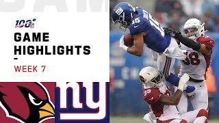 Cardinals vs. Giants Week 7 Highlights  NFL 2019