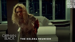 The Helena Reunion   Orphan Black Top Moments   BBC America