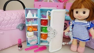 Baby doll bag furniture surprise eggs and beauty house play