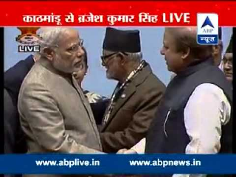Modi, Sharif shake hands, chat at SAARC closing event after cold vibes