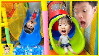 Indoor Playground Fun for Kids and Family Play Slide Rainbow Colors Ball Run   MariAndKids Toys