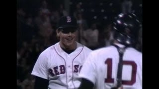 SEA@BOS: Clemens sets MLB record with 20 strikeouts