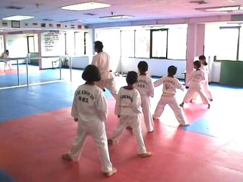 Taekwondo Kids Thonglor 2nd Yellow Belt Practice Moves