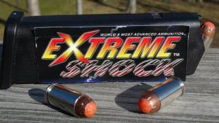 ".40 ""EXTREME SHOCK"" Ammo Gel Test"