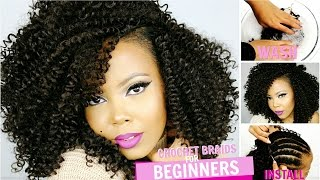 👌 HOW TO| CROCHET BRAIDS FOR BEGINNERS STEP BY STEP | OUTRE XPRESSION 3C WHIRLY LOOP | TASTEPINK