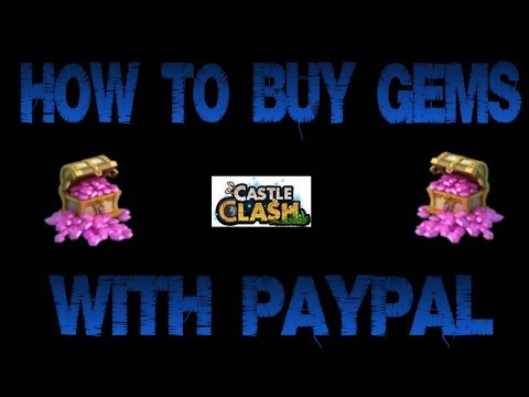 Castle Clash: How to buy gems with paypal.