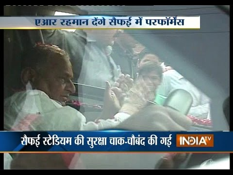Mulayam Singh Yadav Arrives in Saifai to Celebrate His 76th Birthday