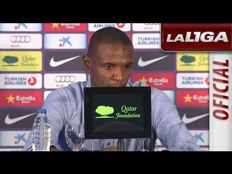 Eric Abidal se despide del FC Barcelona en rueda de prensa