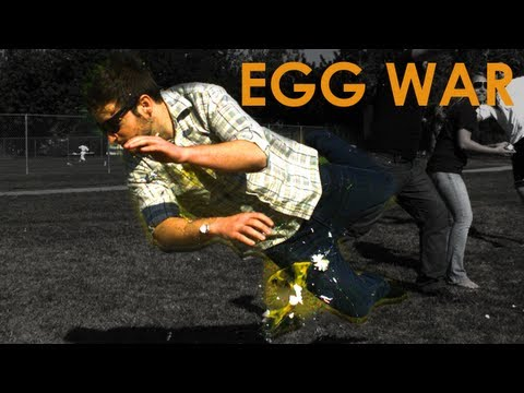 Egg WAR in Slow Motion