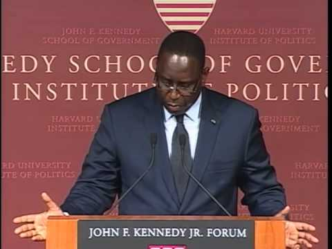 A Public Address by His Excellency Macky Sall President of Senegal