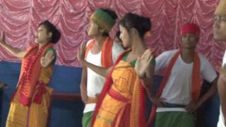 Bwisagu Dance at 1st BODO FRESHMANT SOCIAL BY ABSU AT Pathsala, 2014
