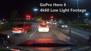 GoPro Hero 6 - 4K60 Low Light Footage (Night)