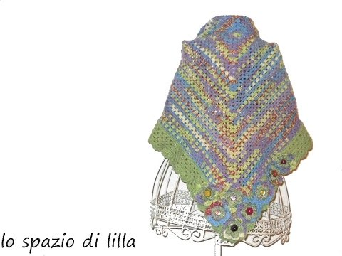 lilla's tutorials: Scialle all'uncinetto facilissimo / Easy crochet shawl