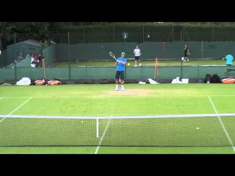 20110624溫布頓盧彥勳(yen-hsun Lu)和Rafael Nadal練球(一)